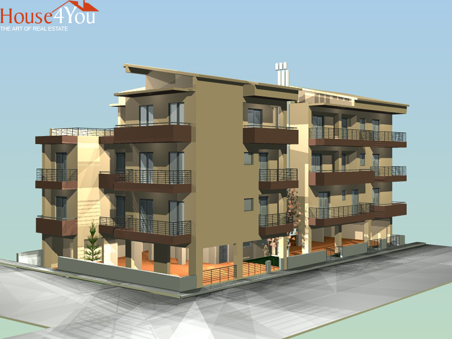 For sale under construction 2 bedroom apartment of 55 sqm with parking and warehouse in the center of Ioannina