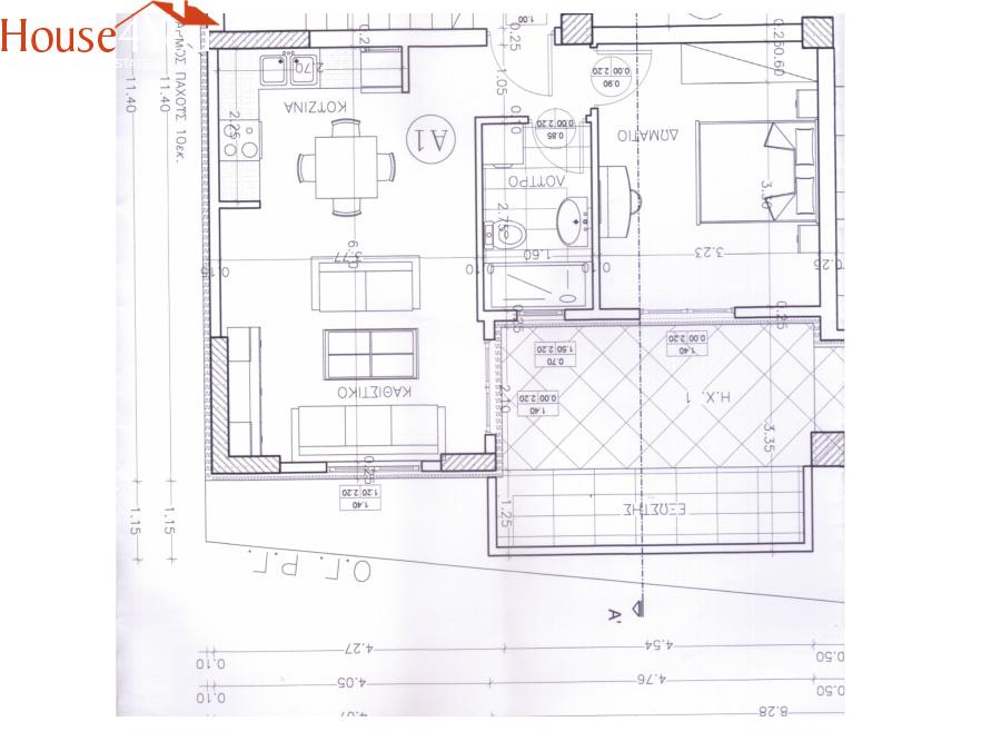Πωλείται υπο κατασκευή 2αρι διαμέρισμα 44τμ. 1ου ορόφου με πάρκινγκ και αποθήκη στο κέντρο των Ιωαννίνων
