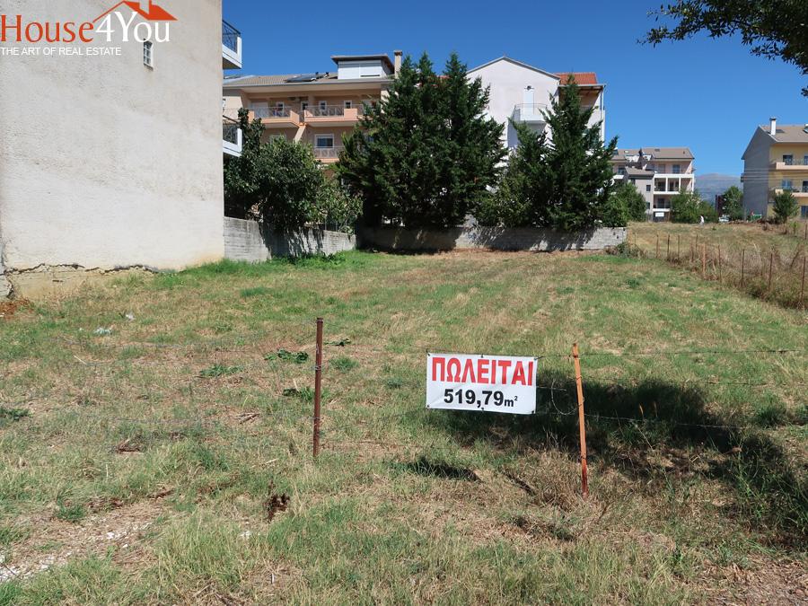 For sale a plot of 520 sq.m. with a face of 17 m. On Pantezidi Street in the area of Kiafa in Ioannina
