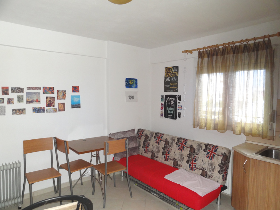 for rent newly built and furnished two-room studio, 30 sq.m. ground floor in the area Votanikos in Ioannina