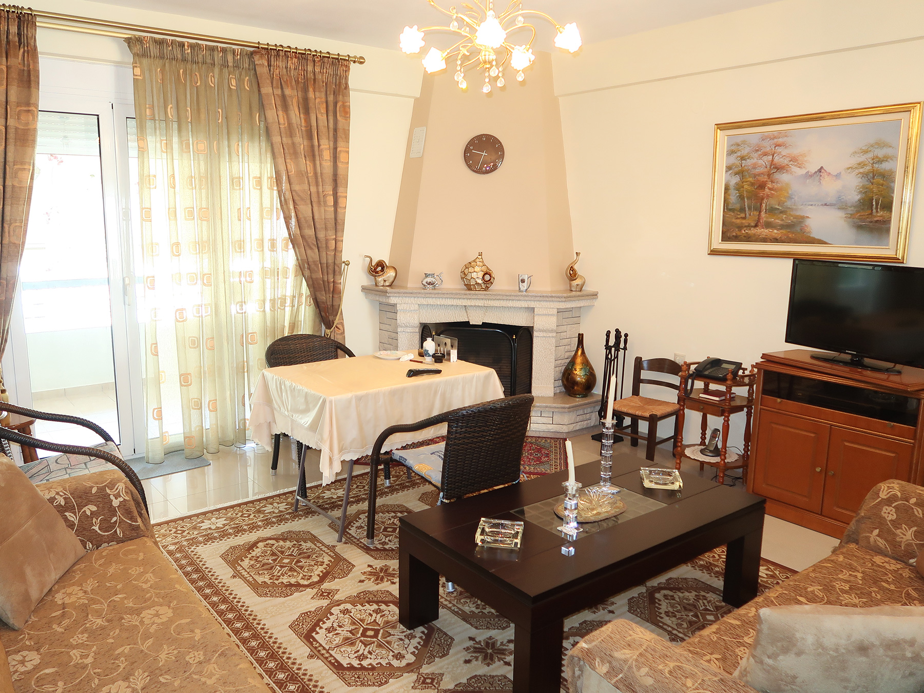 For sale bright two bedroom apartment 90 sq.m. of 2009 1st floor in Nea Zoi, Ioannina