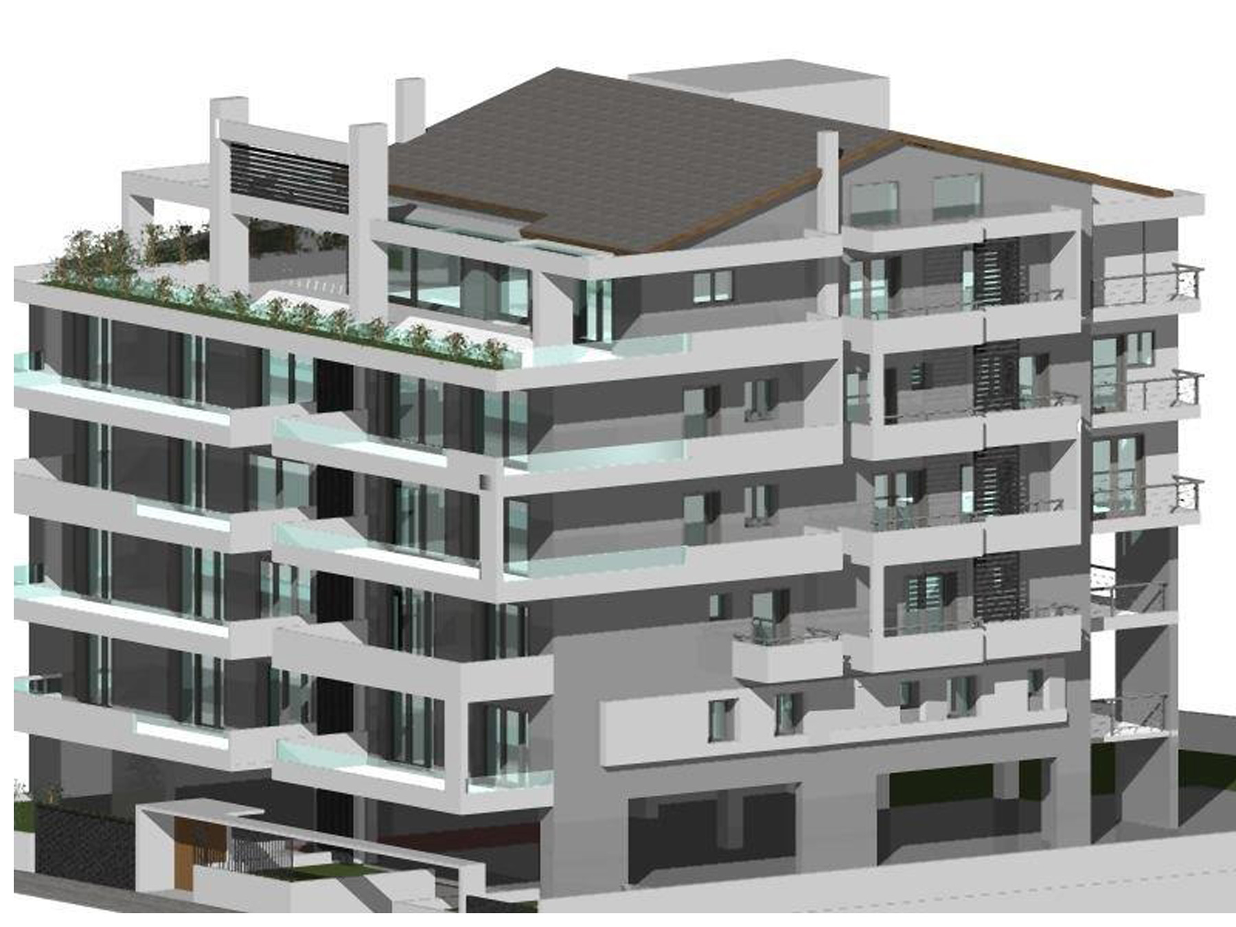 For sale under construction 3 bedroom apartment 117 sq.m. 4th floor with parking and storage in the center of Ioannina