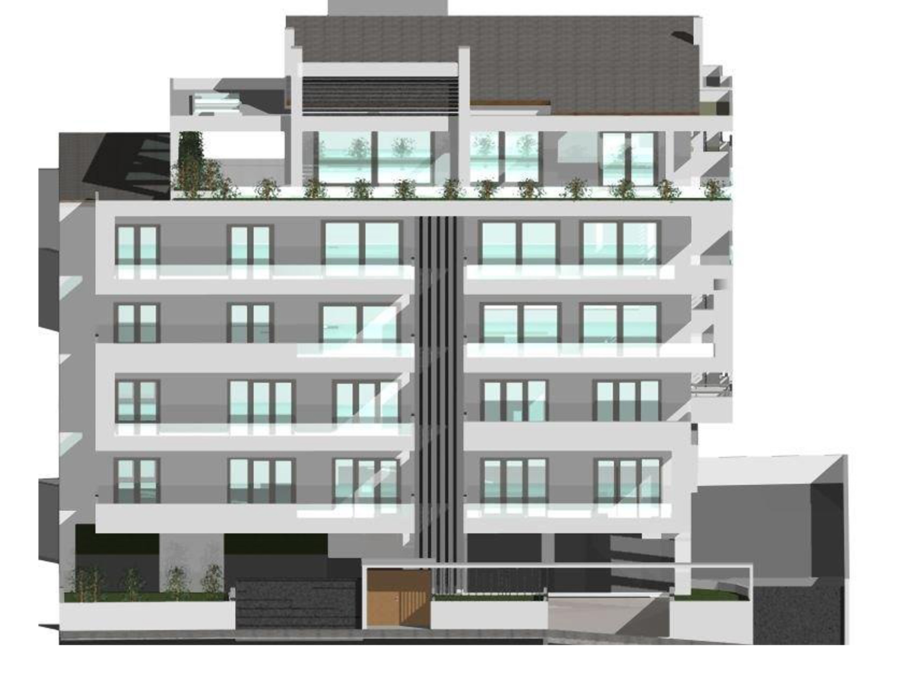 For sale under construction 2 bedroom apartment 83 sq.m. 4th floor with parking and storage in the center of Ioannina