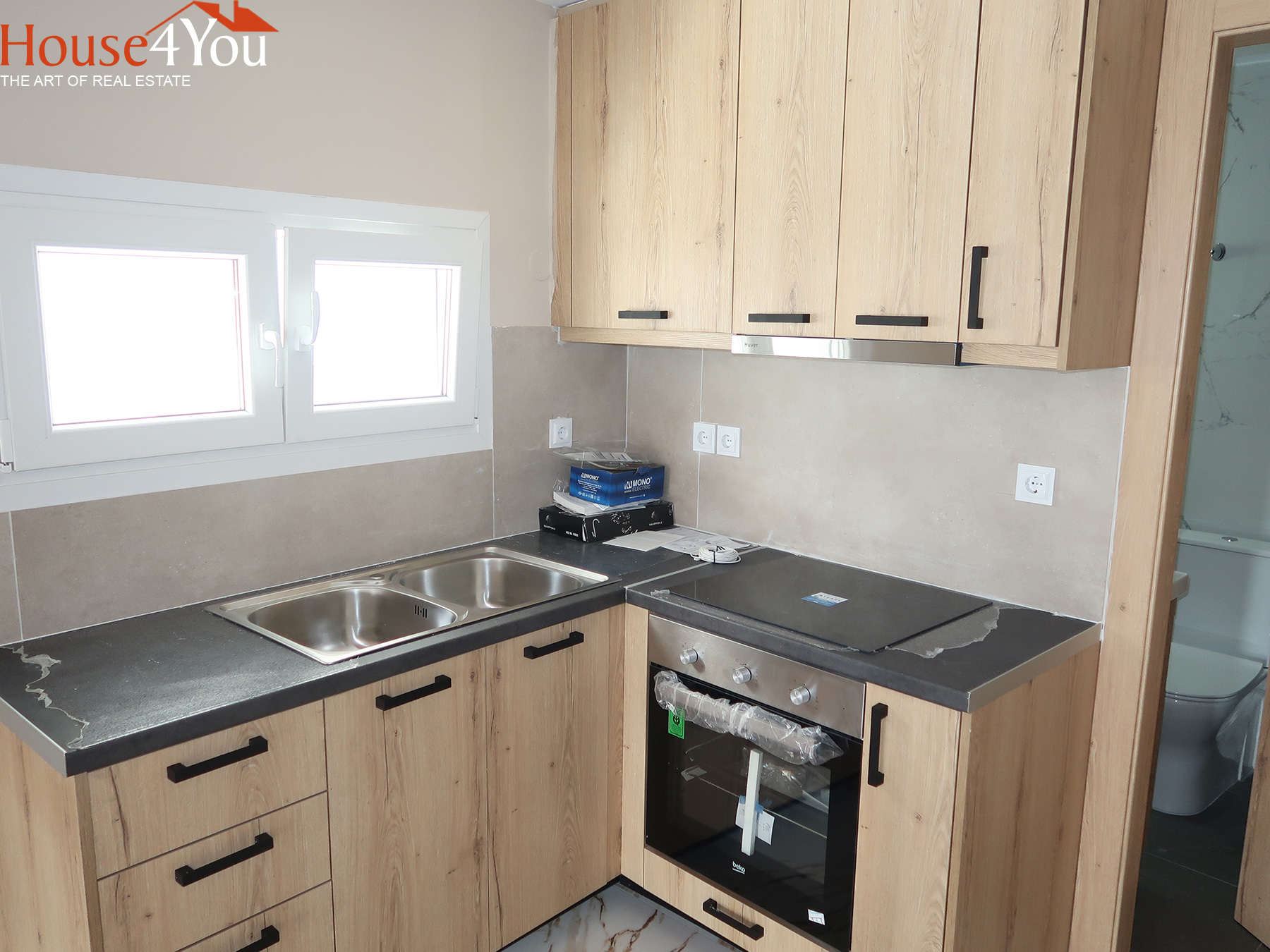 For rent a new 49sqm ground floor apartment. built in 2021 in Kaloutsiani Ioannina