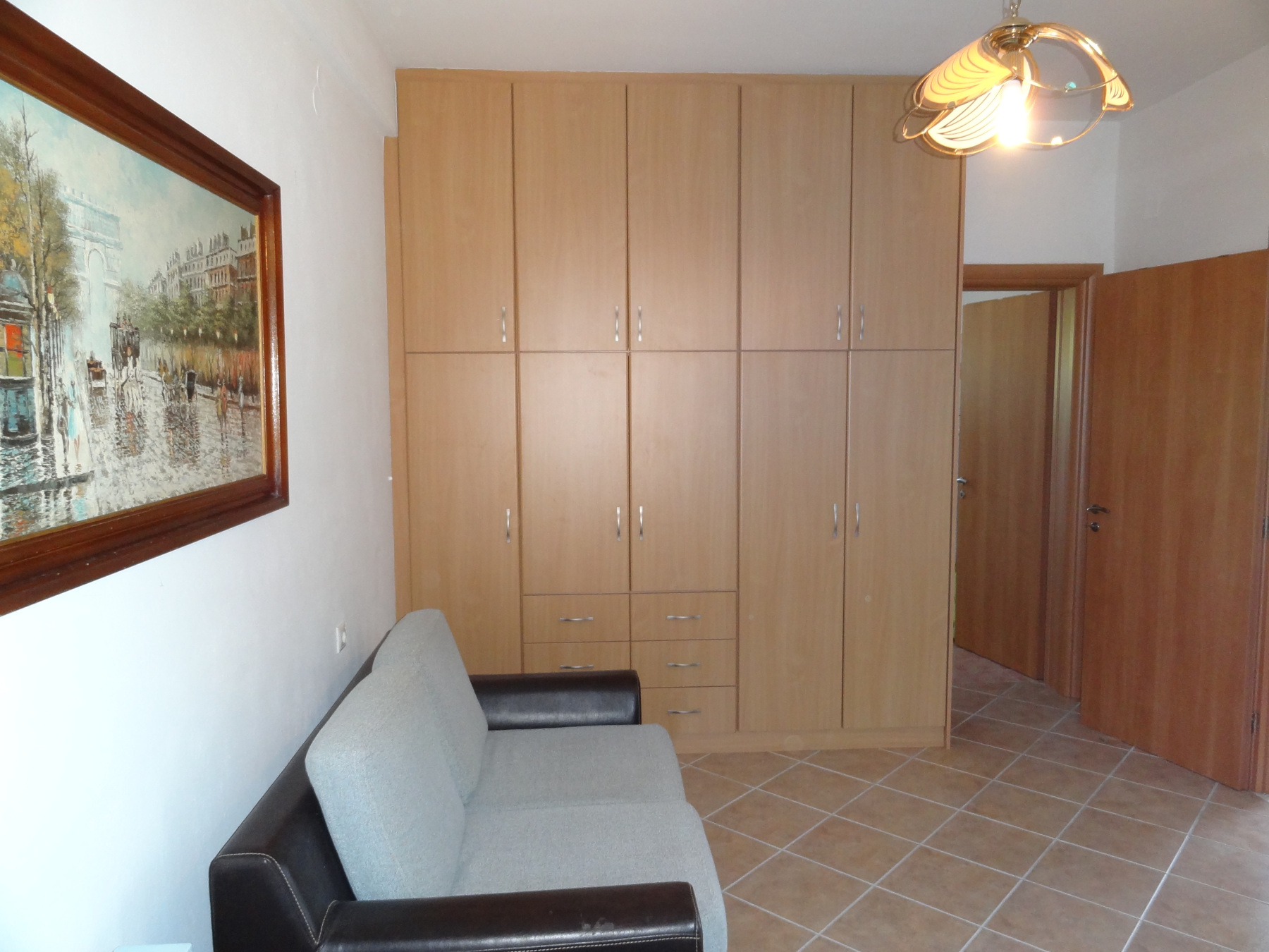 For rent fully furnished ground floor 1 bedroom apartment of 45 sq.m. in Neochoropoulo near the University of Ioannina