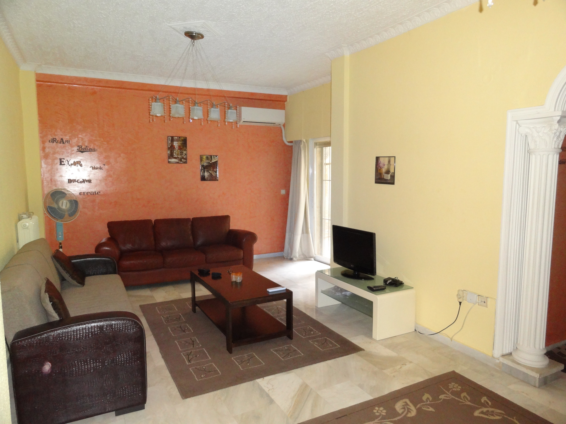 For rent 2 bedrooms fully furnished apartment of 92 sq.m. 1st floor in the center of Ioannina.
