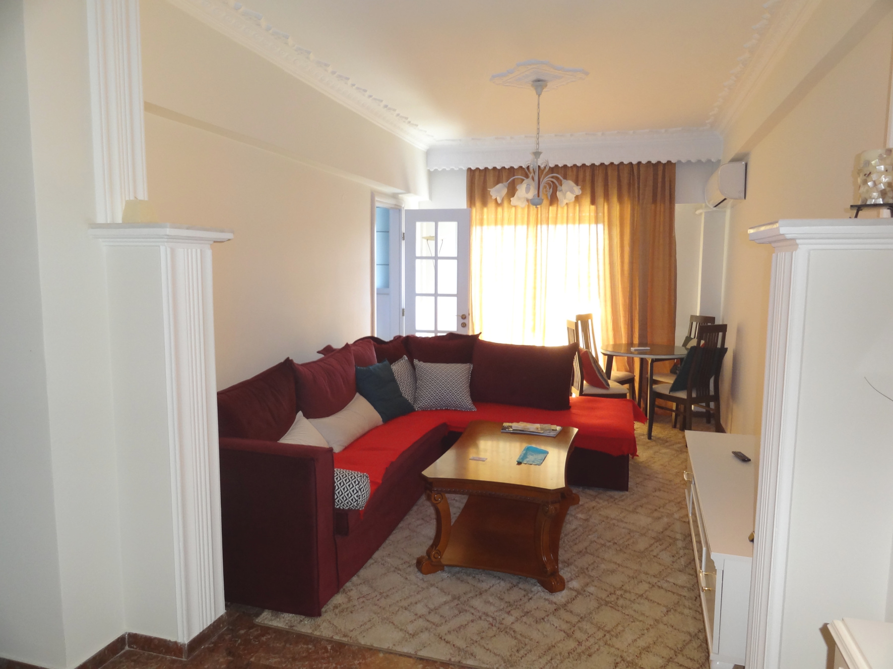 For rent 2 bedrooms renovated and fully furnished apartment of 74 sq.m. 2nd floor in the center of Ioannina near Pargis square