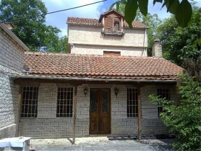 For sale two storey detached house on a plot of 163.06 sq.m. in the settlement in Pesta of Ioannina.